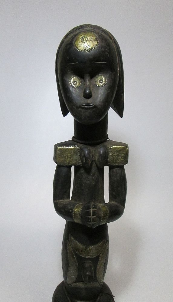 Large decorated female Fang Figure, African Art