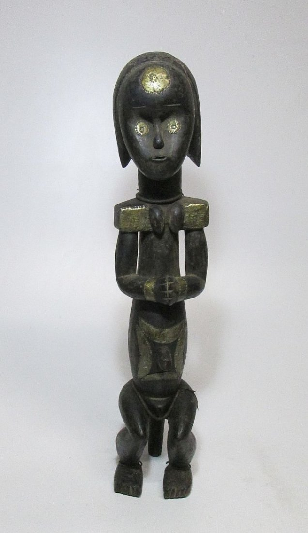 Large decorated female Fang Figure, African Art - 2