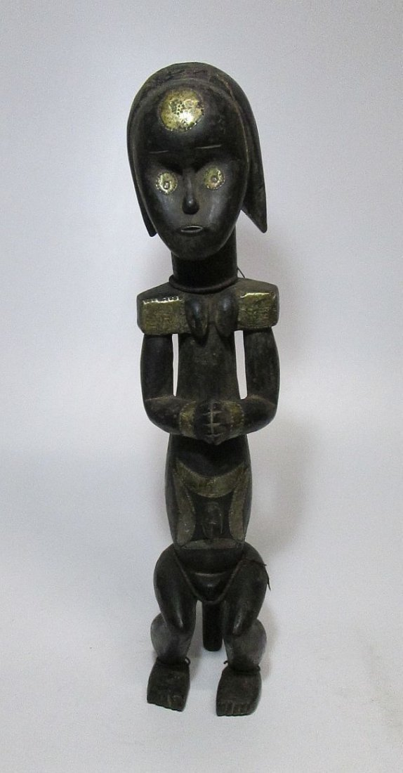 Large decorated female Fang Figure, African Art - 3