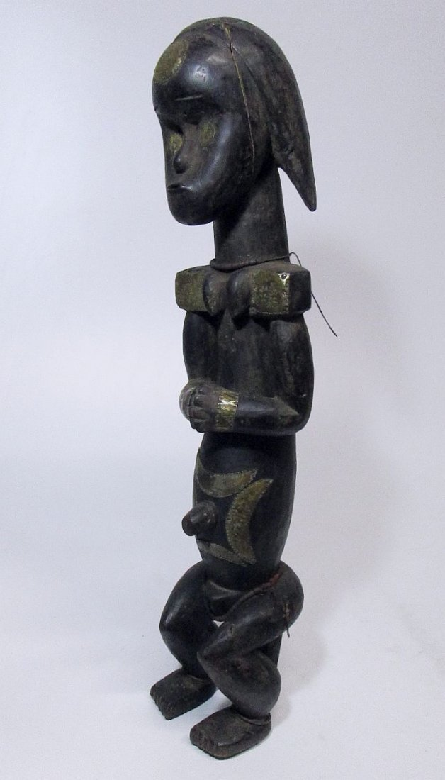 Large decorated female Fang Figure, African Art - 5