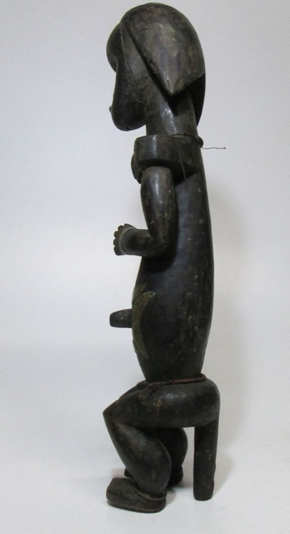 Large decorated female Fang Figure, African Art - 6