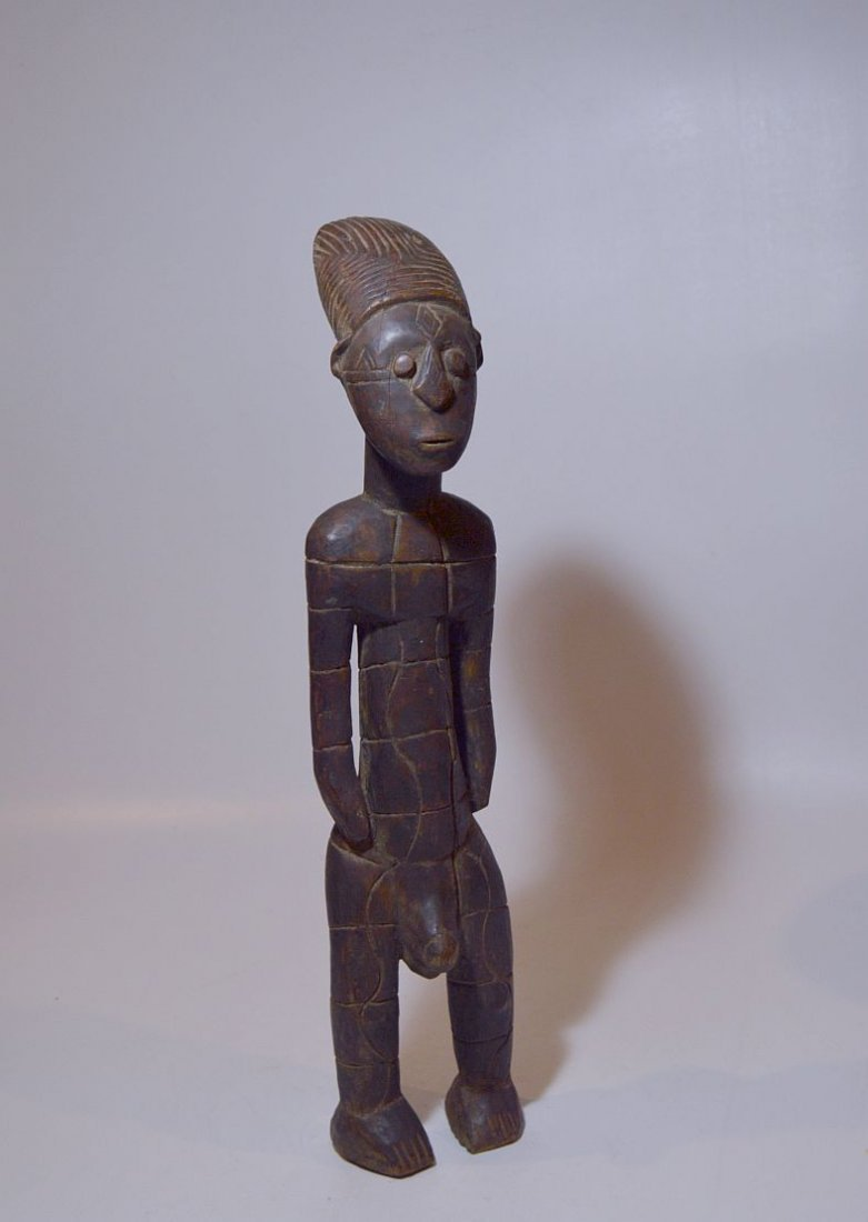 Vintage Mangbetu Male Ancestor sculpture, African Art - 2