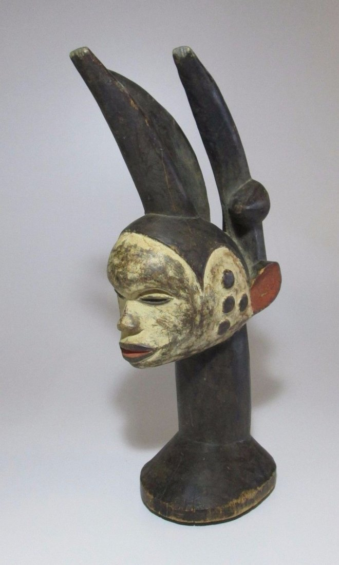 Fantastic and Elaborate Idoma headdress, African Art - 5