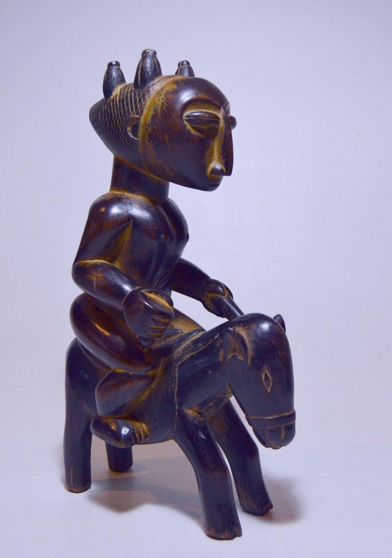 Attie / Anye Horse and Rider Sculpture ~ African Art