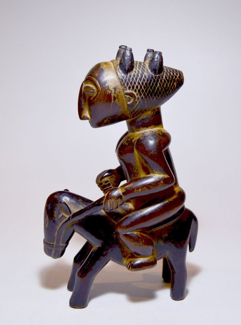 Attie / Anye Horse and Rider Sculpture ~ African Art - 4
