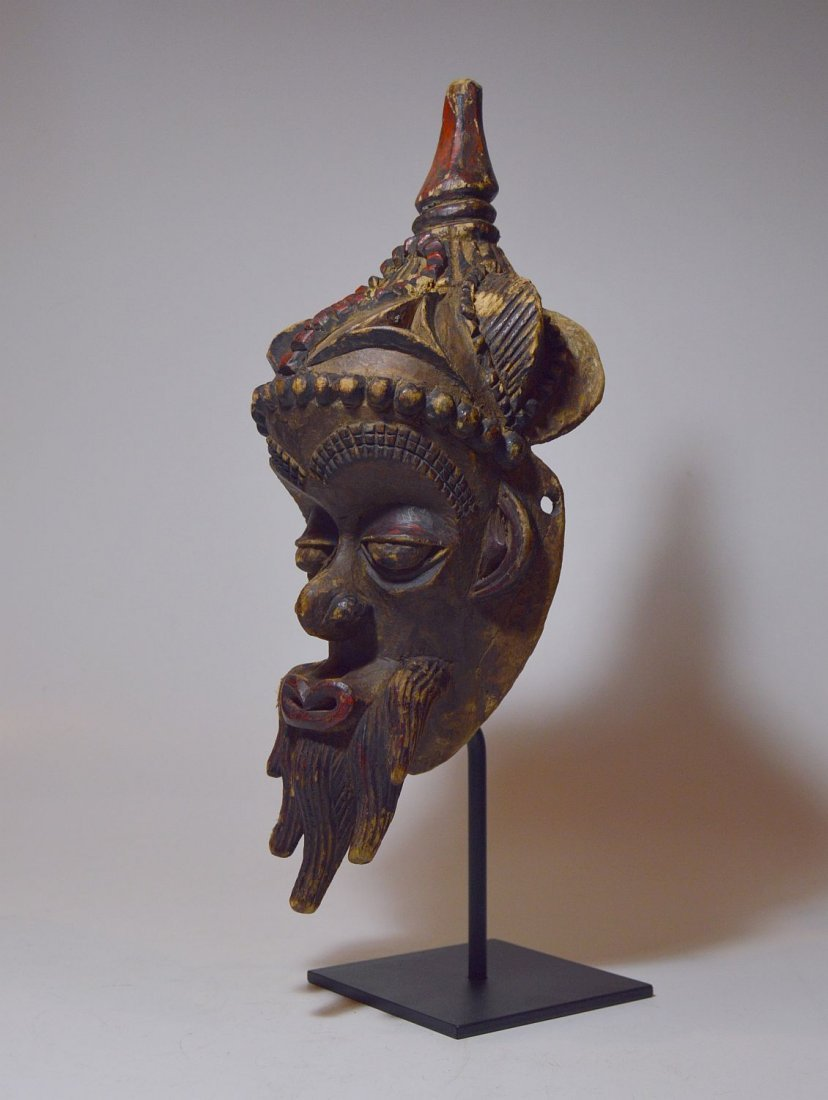 Fantastic Old Lulua African mask with Elaborate style - 2