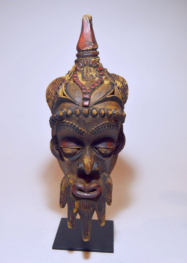 Fantastic Old Lulua African mask with Elaborate style - 3