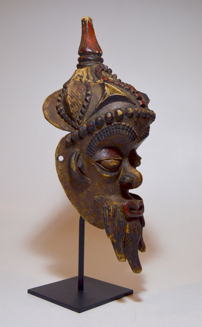 Fantastic Old Lulua African mask with Elaborate style - 4