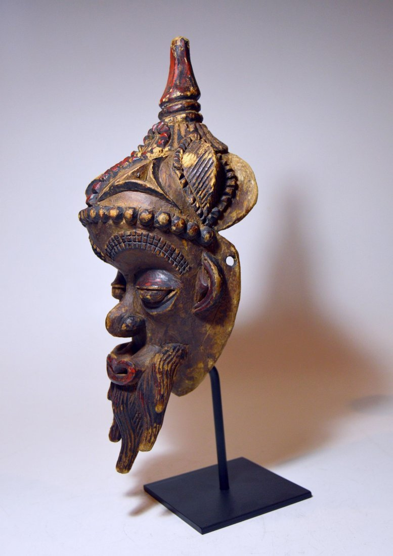 Fantastic Old Lulua African mask with Elaborate style - 7