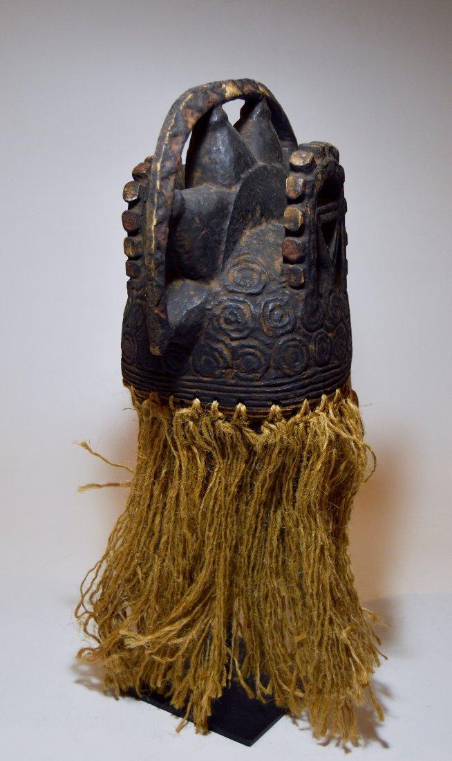 Vintage Igbo Maiden Spirit African mask w/ ornate crest - 7