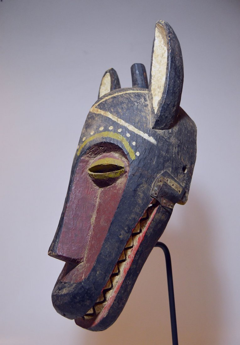 A Very Rare Pende Zoomorphic Mask, African mask