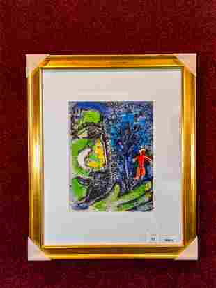 Lithography signed Marc Chagall