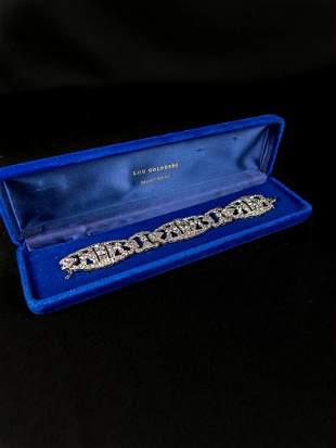 Platinum & diamonds bracelet art deco (with evaluation)