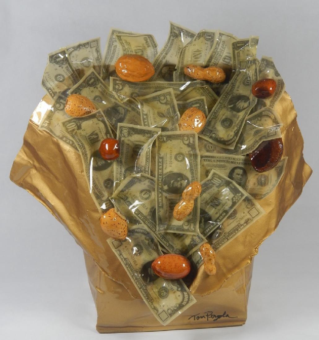 "TOM PERGOLA ""NUTS OVER MONEY"" MIXED MEDIA"
