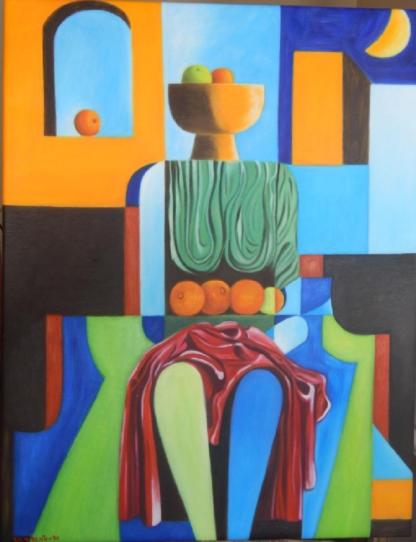 MARIO CARRENO OIL PAINTING ON CANVAS