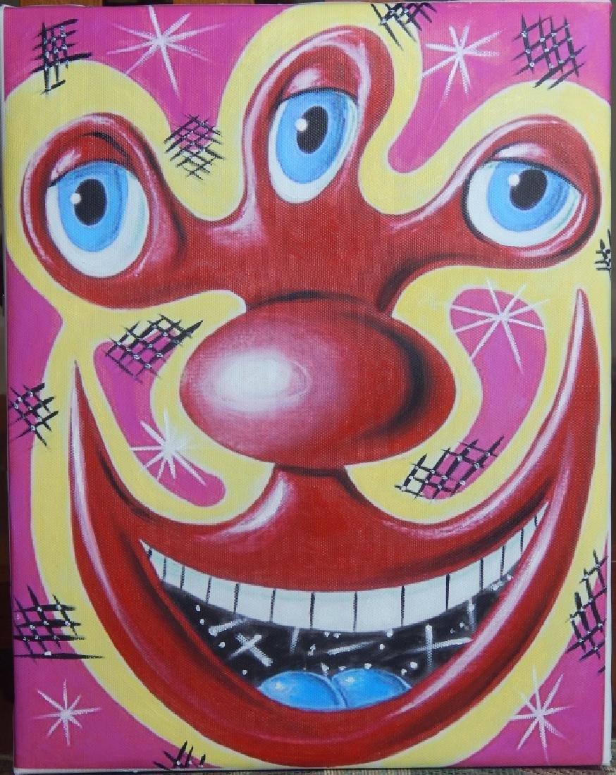 KENNY SCHARF - 1999 ACRYLIC PAINTING ON CANVAS