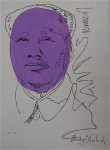 SIGNED SKETCH WORK OF MAO ON PAPER
