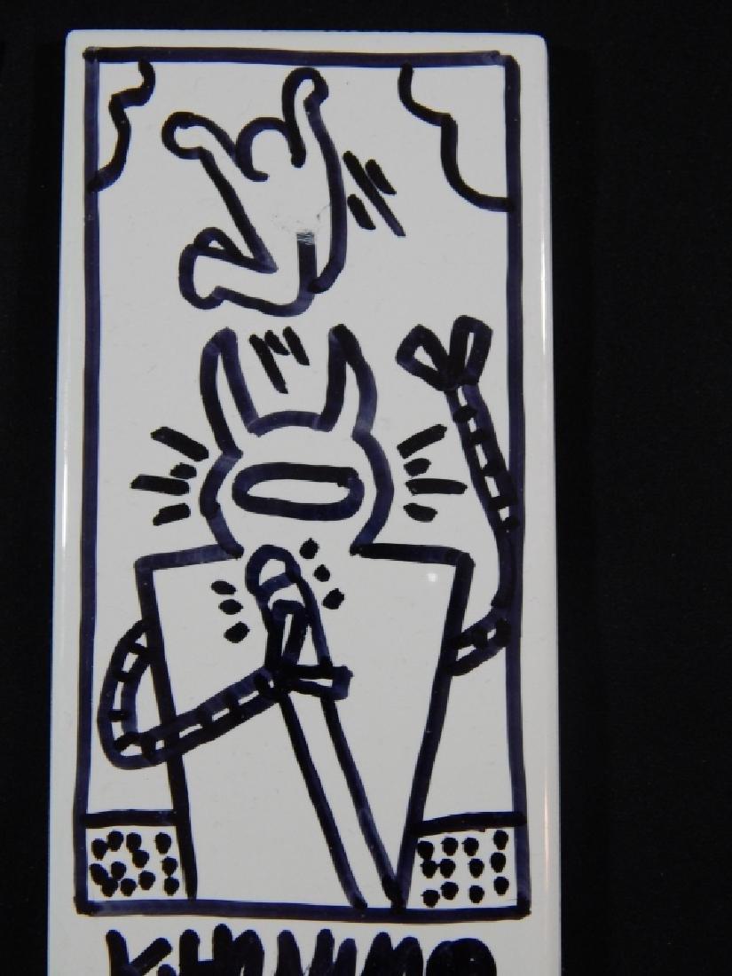KEITH HARING (AMERICAN, 1958-1990) SUBWAY TILES - 2