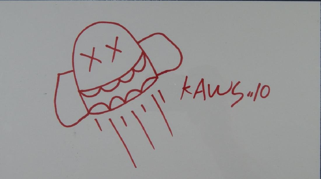 KAWS (AMERICAN,B.1974) SKETCH BOOK DRAWING