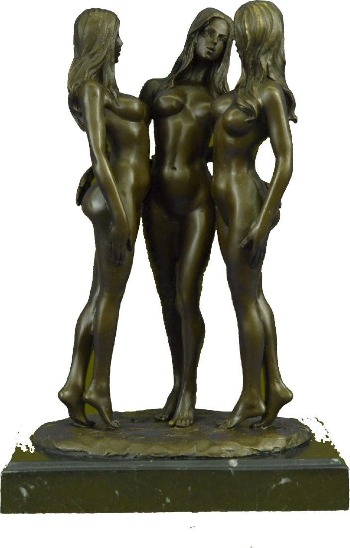 MAVCHI SIGNED EROTIC BRONZE SCULPTURE