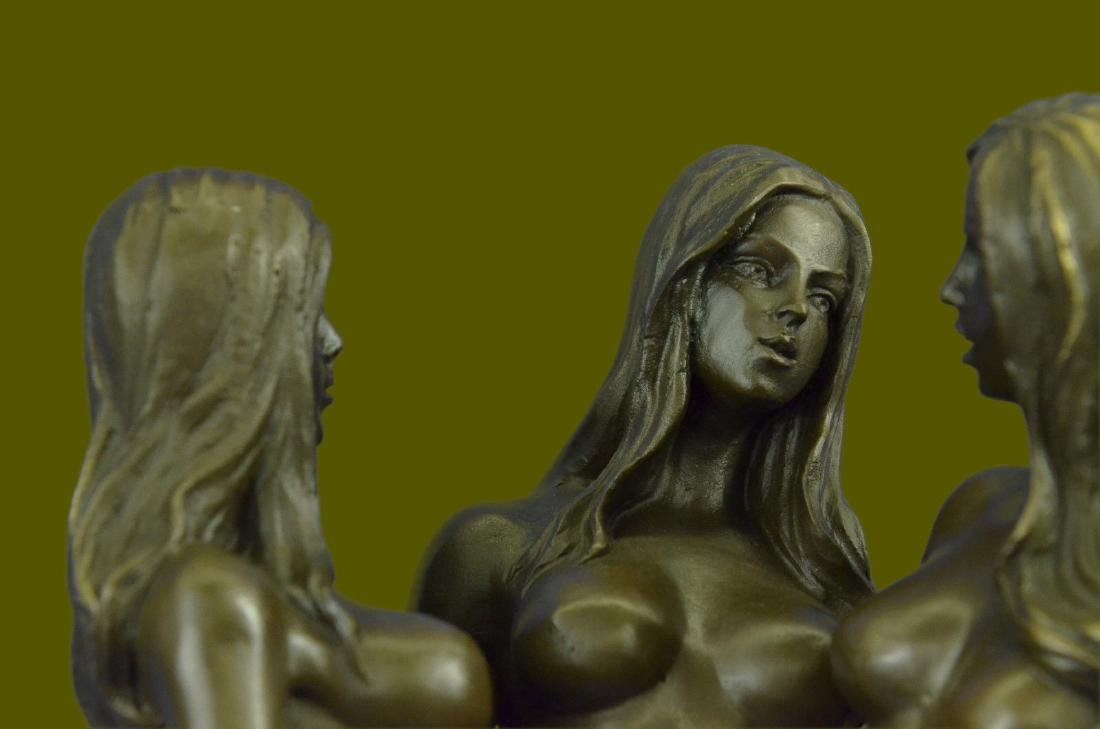 MAVCHI SIGNED EROTIC BRONZE SCULPTURE - 3