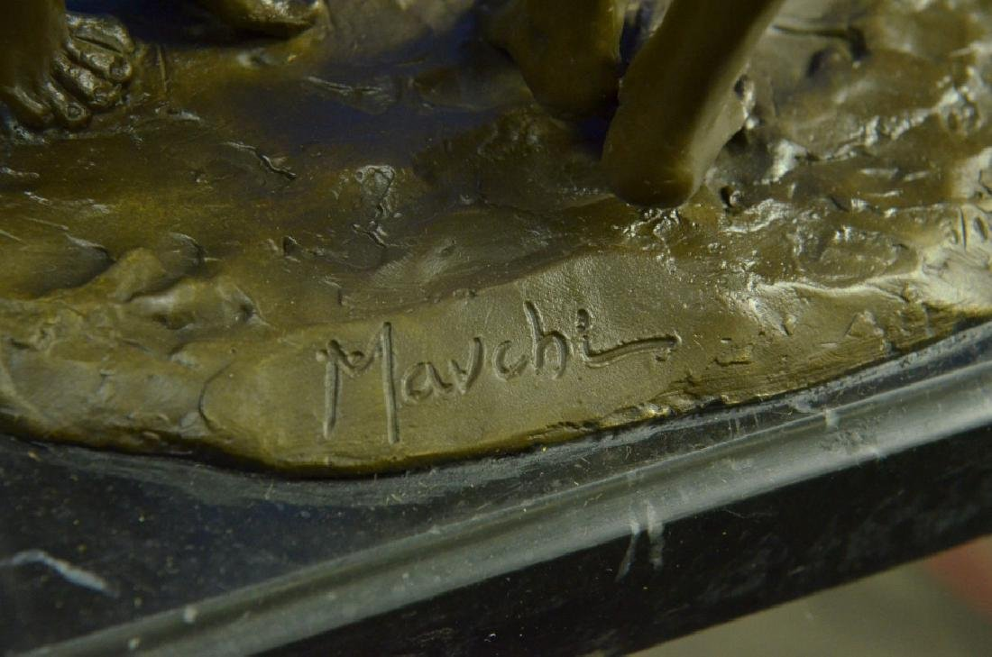 MAVCHI SIGNED EROTIC BRONZE SCULPTURE - 4