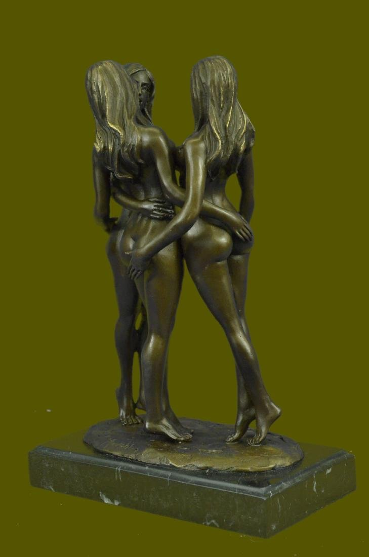 MAVCHI SIGNED EROTIC BRONZE SCULPTURE - 5