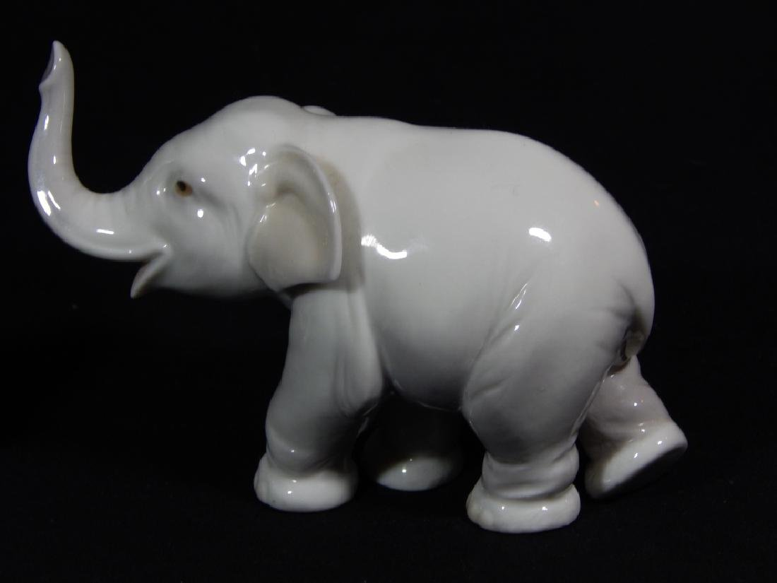 $ LLADRO ELEPHANT & RABBIT PORCELAIN FIGURES - 2