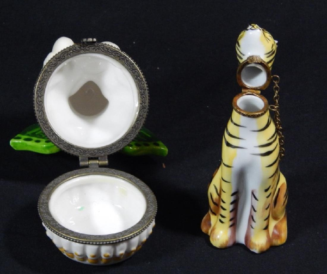 $ TWO PORCELAIN LIMOGES & VILLEROY BOCK PILL BOXES - 4