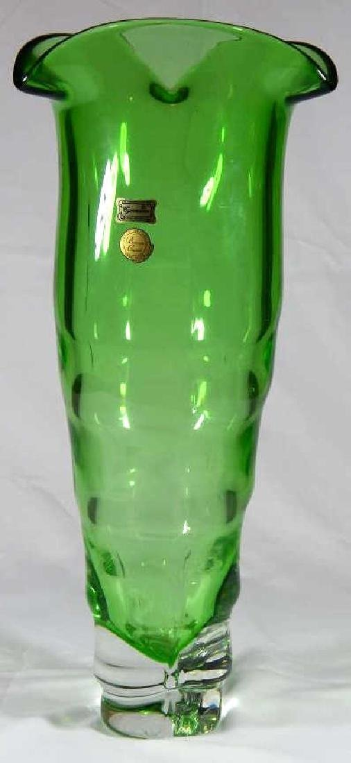 EGERMANN BOHEMIAN HAND BLOWN CRYSTAL VASE