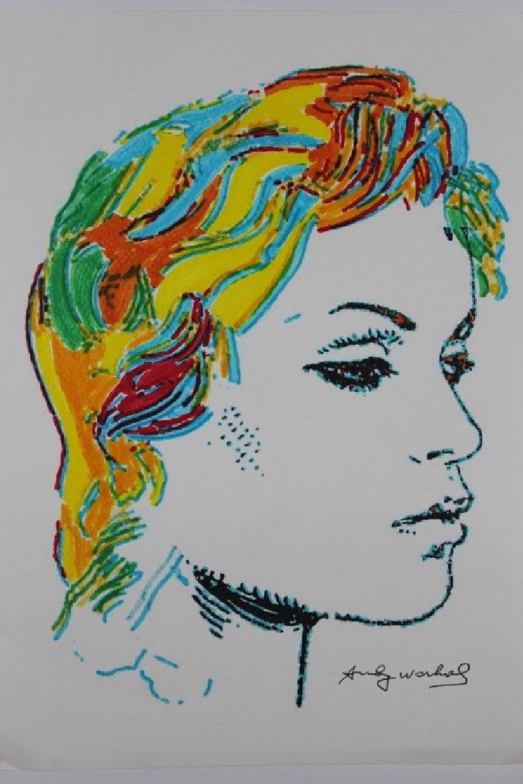 AFTER ANDY WARHOL SIGNED  INK DRAWING