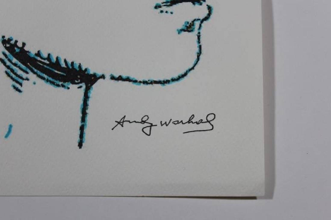 AFTER ANDY WARHOL SIGNED  INK DRAWING - 2