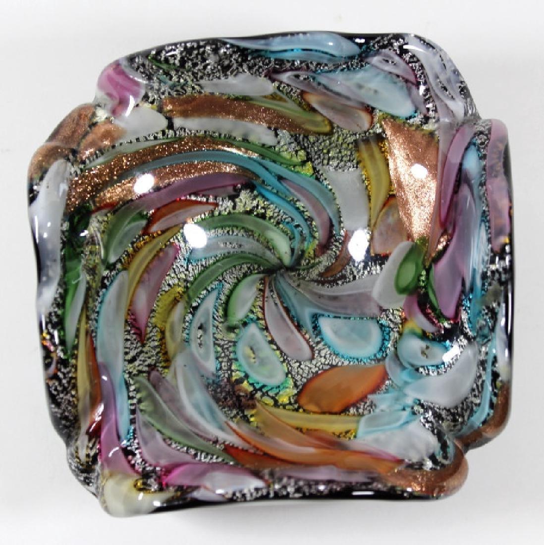 VINTAGE MURANO ITALIAN ART GLASS DISH