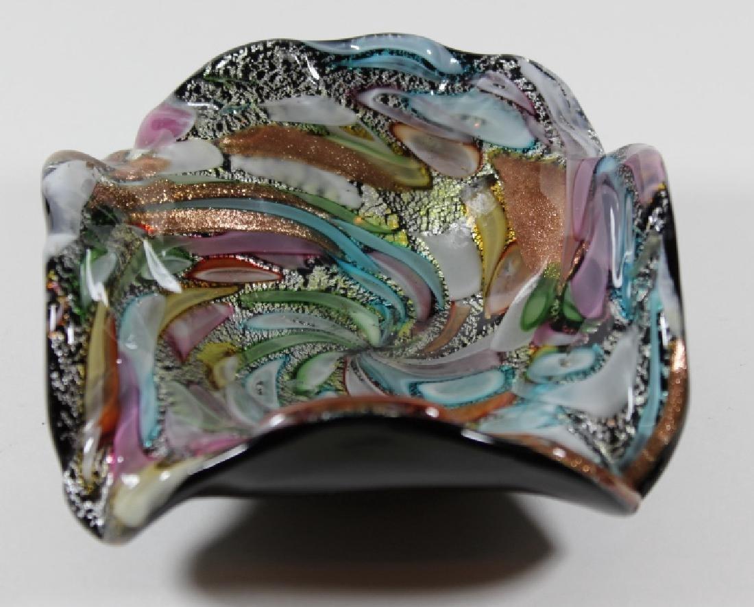 VINTAGE MURANO ITALIAN ART GLASS DISH - 2