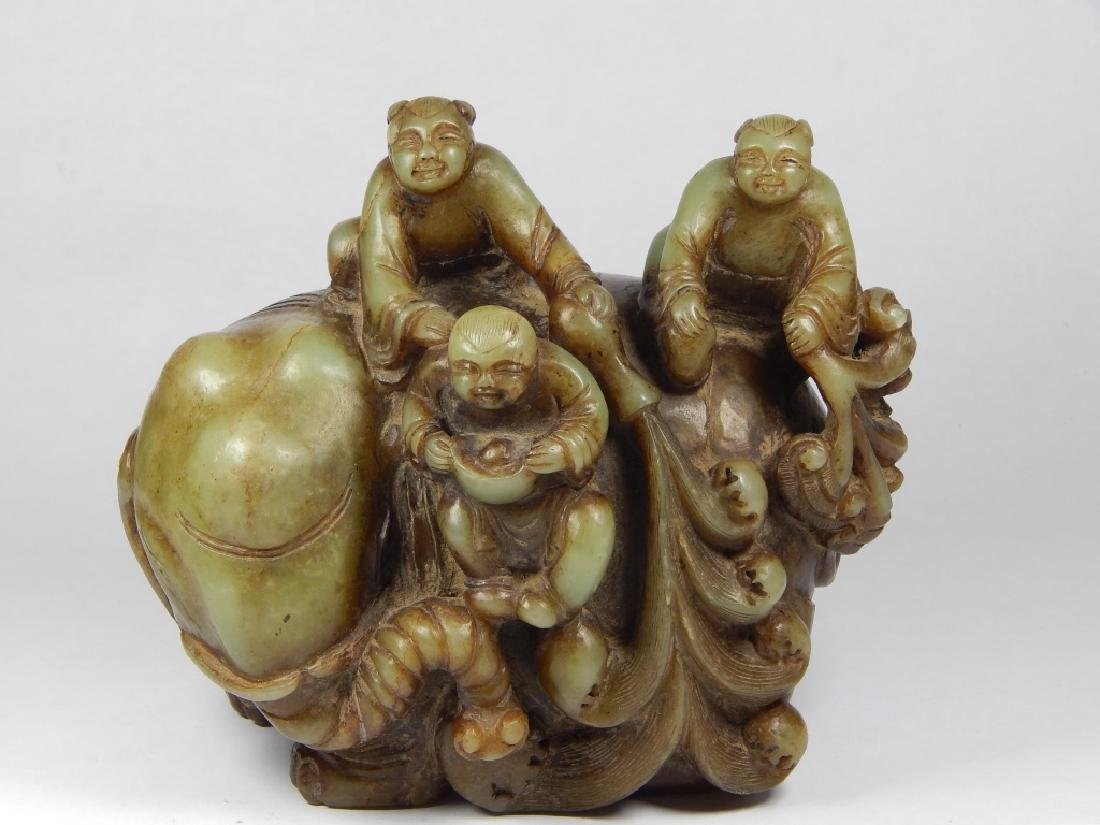 CHINESE CARVED JADE SCULPTURE