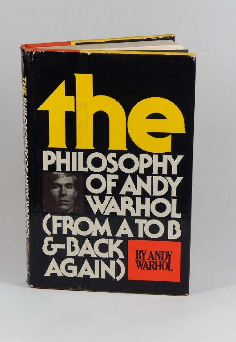 "ANDY WARHOL ""THE PHILOSOPHY OF ANDY WARHOL"" BOOK"