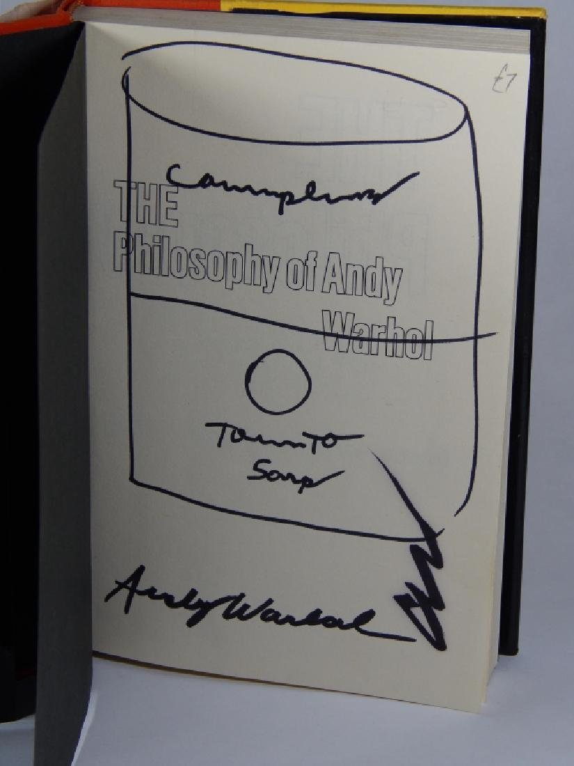 "ANDY WARHOL ""THE PHILOSOPHY OF ANDY WARHOL"" BOOK - 2"