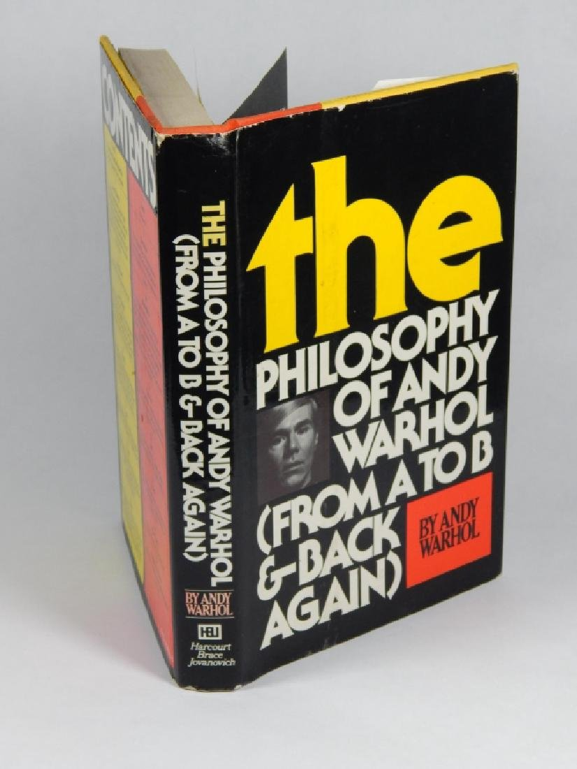 "ANDY WARHOL ""THE PHILOSOPHY OF ANDY WARHOL"" BOOK - 4"