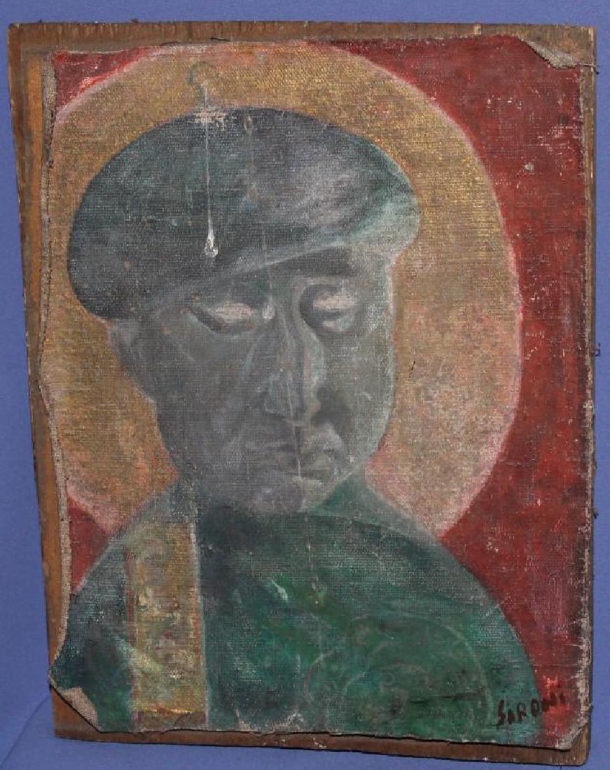 MARIO SIRONI (ITALIAN, 1885-1961) OIL PAINTING - 2