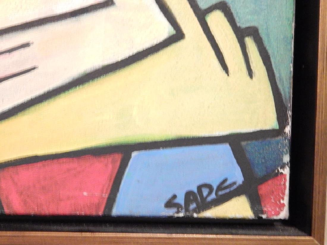 SADE (CUBAN) CUBISM ABSTRACT OIL PAINTING - 2