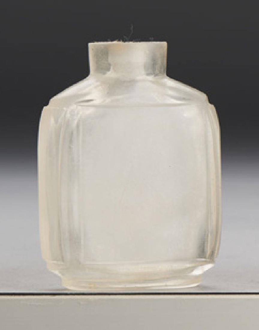 CHINESE ROCK CRYSTAL SNUFF BOTTLE