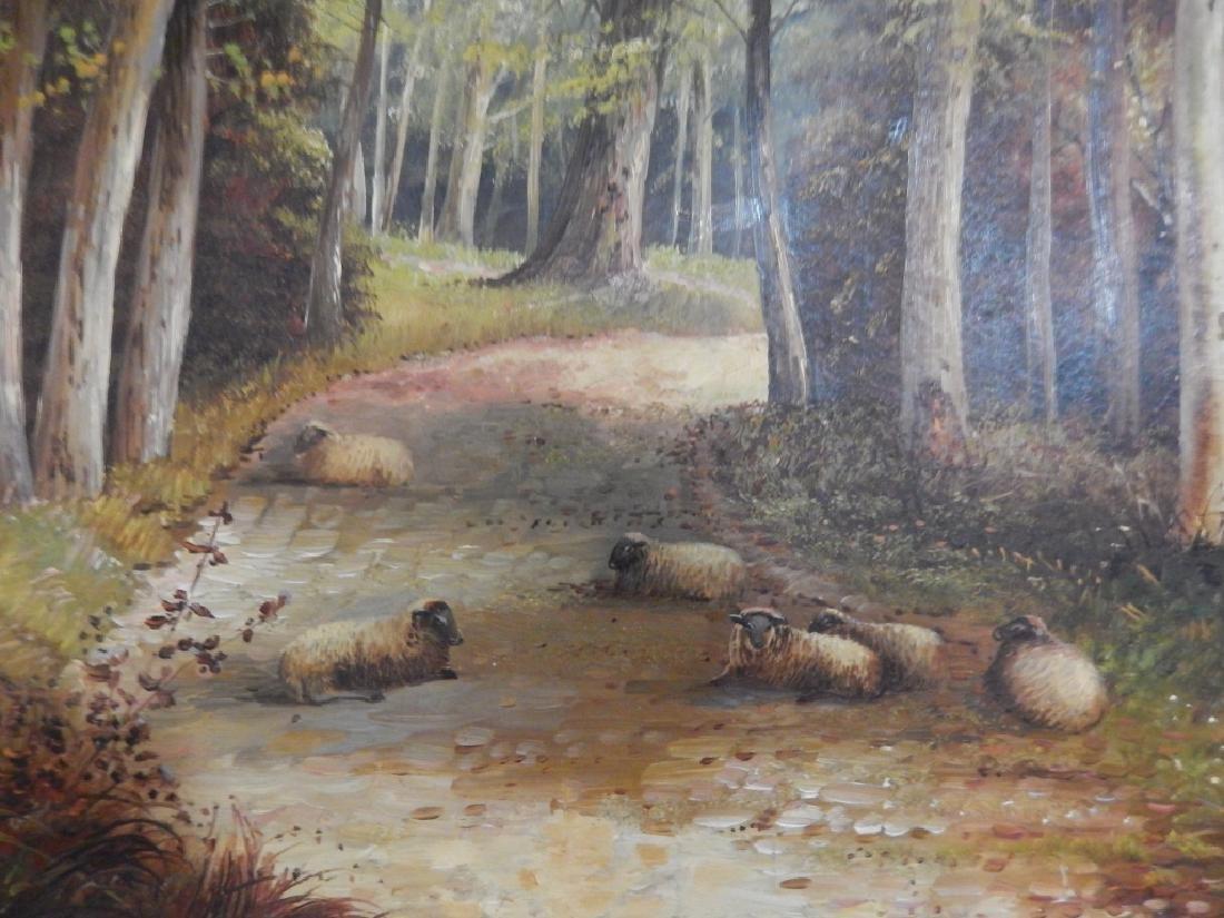 JOHN W. MORRIS (BRITISH, 1865-1925) OIL PAINTING - 6