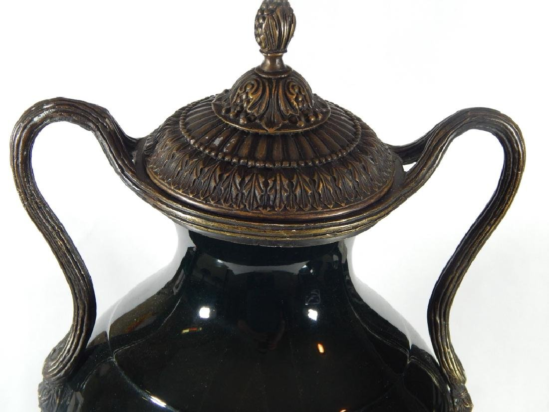 LARGE THEODORE ALEXANDER PORCELAIN AND BRONZE URN - 2