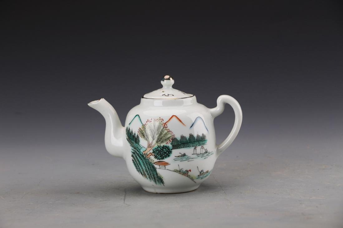 Chinese Republic Styled Qian Jiang Glazed Teapot