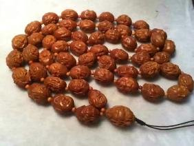 Chinese Olive Stone Carving Beads