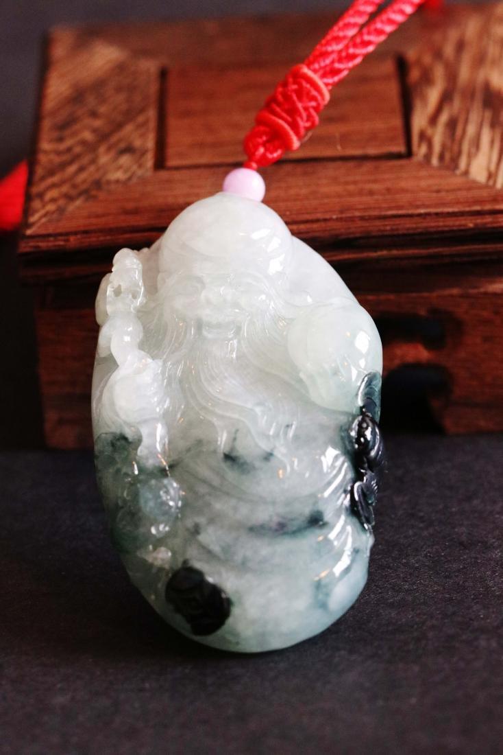 Chinese Jadeite Carved God of Longevity W:5cm H:8cm