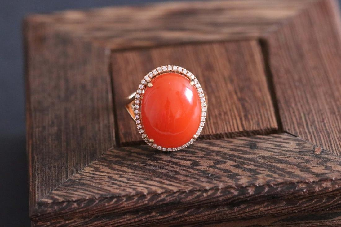 Chinese Red Agate Ring(14.3g)