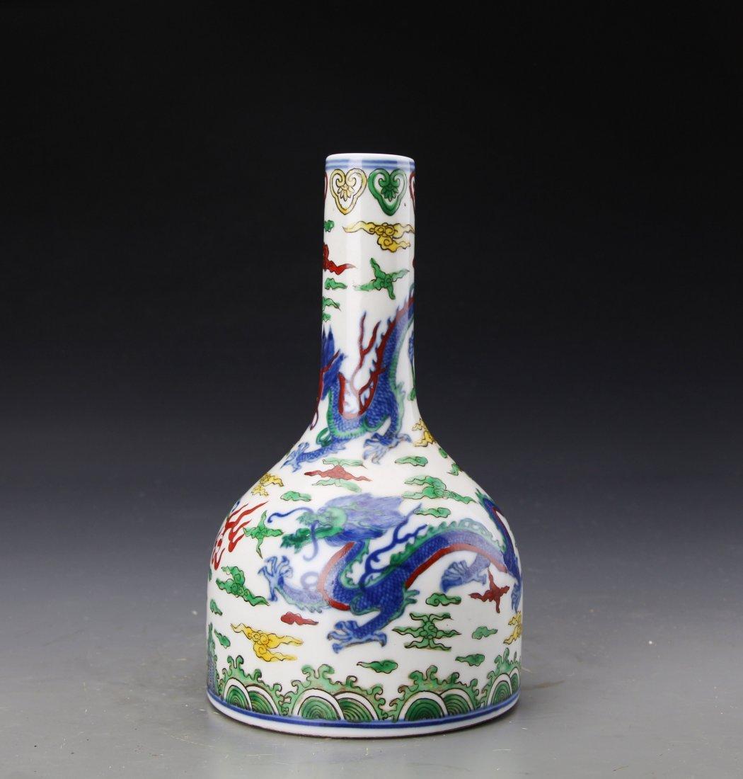"""A """"Da Qing Kang Xi Nian Zhi""""Marked Dou Glazed Vase"""