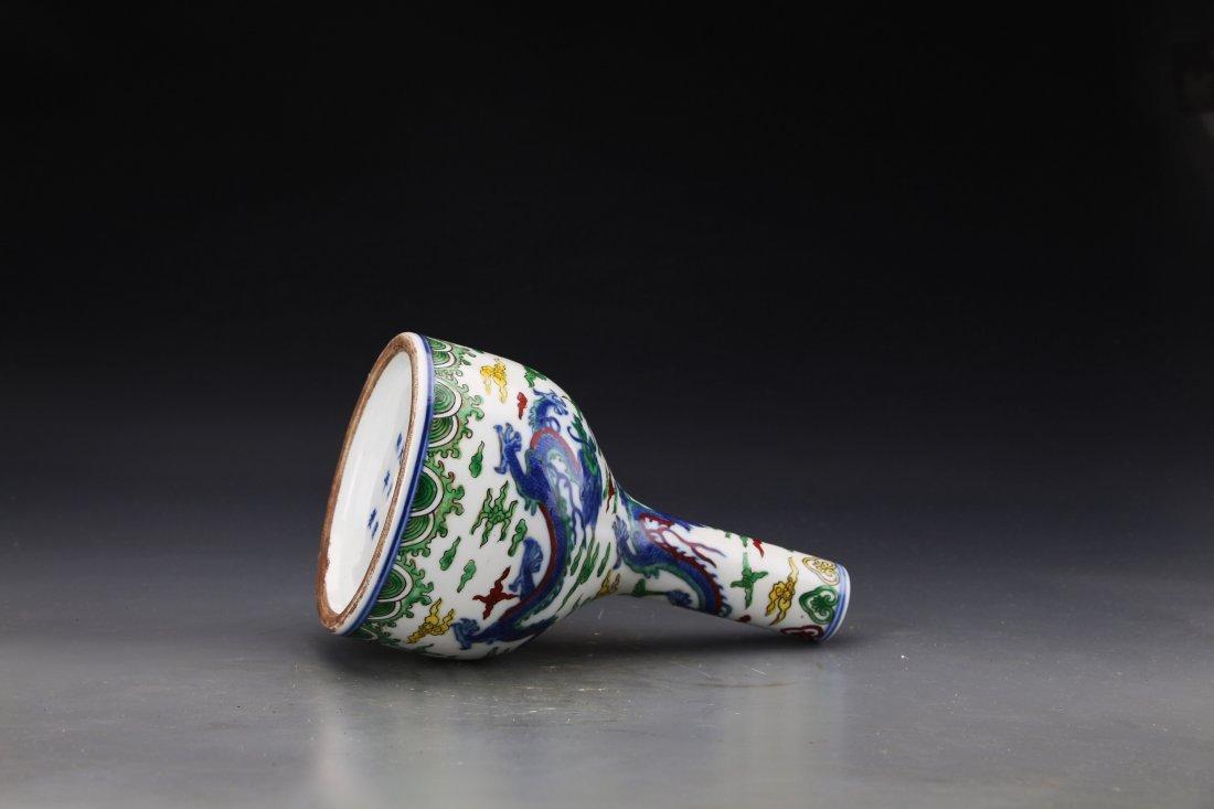 """A """"Da Qing Kang Xi Nian Zhi""""Marked Dou Glazed Vase - 2"""