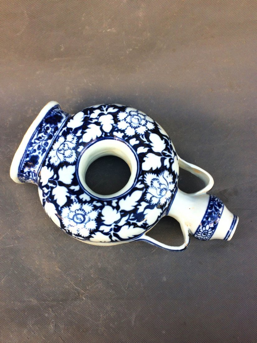 Chinese Ming Styled Blue and White Vase Painted with - 3